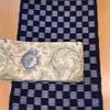 久留米絣と半巾帯の組み合わせ