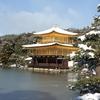 京都・金閣寺 再び雪!