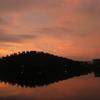 京の夏の夕焼け