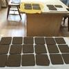 エケベリアの為の筺重ね鉢と薄造り二酸化マンガン遊びの鉢三種