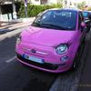 ピンクのフィアット かわいい子ちゃん Fiat
