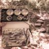 水彩deサクッと風景スケッチLIVE 長居植物園 飛び石を描く 2019