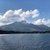 紅葉もまだまだの9月末 野尻湖遊覧 大型遊覧船「雅」に2階1等席に乗船