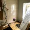 風呂のリフォーム工事3日目、ユニットバスが搬入された