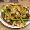 中区錦町 本牧マリンハイツの「百鶴楼」で台湾の筍スライスと豚肉四川風炒め