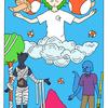 タロットカード「恋人たち」風 イラスト