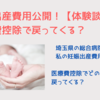 妊娠出産費用を公開!医療費控除で戻ってくる?【体験談】