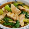 豚バラ肉とチンゲン菜の醤油オイスター煮のレシピ