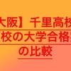 【高校受験2020】千里高校の併願校の大学合格実績を比較