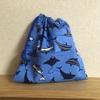 小学校用の巾着のサイズは23×23