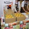 大阪本場でJAみなみ信州の南水梨の販促セレモニー