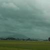 台風で風が強い一日だった