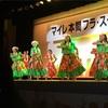 フラ踊り初め会にクリスマスローズ展