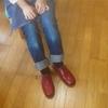 初めての靴作り、自分の足の靴。