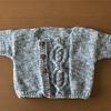 michiyoさん『ベビーと小さな子どものための手編み』からアランカーディガン 完成♡