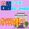 【6/14東京&欧州時間】しつこくポンドドル!!長い足には逆らうな!!