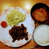 夕食:甘辛味の骨付きチキン