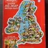 WaddingtonsのShaped JIG-MAP、グレートブリテン島が地理も学べるジグソーパズルになってるよ。