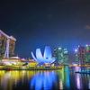 【シンガポール】マリーナエリアの夜景は美しい。マリーナベイサンズ、SPECTRA etc