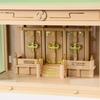 シンプル神棚 ガラス箱宮で明るく祭れる 巴紋シリーズ