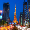 聳え立つ東京タワー