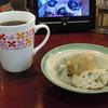 築地の「米花」でがんも、里芋煮、鶏つくねの卵とじ。