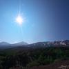 朝日の十勝岳