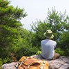真夏の天狗塚(長峰山)登山でへとへとになってきた