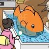 動物イラスト:徳用金魚