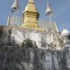 【ラオス旅】世界遺産・ルアンパバーンの町を一望できる丘と仏陀の足跡?!
