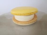 キリとコラボしたセブンの「クリームチーズ」マカロンアイスの完成度が高い。