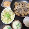 マグロ大根、白菜サラダ、味噌汁