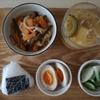 妊婦めし08:切り干し大根の煮物 と糸寒天入り高野豆腐とゴーヤの味噌汁