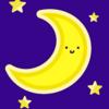 『三日月』 お月様 顔 かわいい 星 オリジナルデジタルイラスト