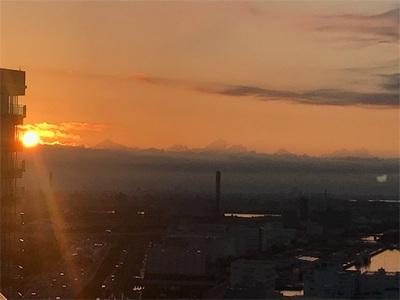 ベランダから朝日が見えました〜初日の出が楽しみ〜