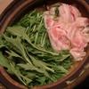 お鍋作る 『はりはり鍋』 ~水菜大量GETにつき初挑戦です~