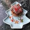 スノースノーのクリスマスツリー型スーベニアプレートが可愛い!チョコレート&コーヒームースケーキをご紹介!