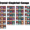 D/D Basic Combos① 【Crystal+Sieghried+Savage】
