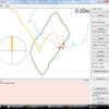 地磁気センサ+ロータリーエンコーダ の可視化その2