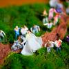 友人の結婚式のウェルカムボードをジオラマで作ってみた