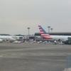 アメリカン航空ビジネスクラス搭乗機 成田ーシカゴ リバースヘリンボーンシートを体験