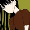 【フリーイラスト素材】レオパード柄トップスの黒髪ロングの女の子