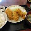 カキフライ定食。庚申塚「ときわ食堂」