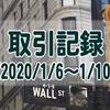 【取引記録】2020/1/6週の取引(利益$423、含み損$-1,015)