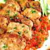 豚ヒレ肉のチーズピカタ・トマトソース添え