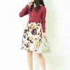 骨格ストレート・パーソナルカラーサマー・パーソナルデザインガーリッシュの購入した柄スカート