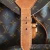 ルイヴィトン モノグラム モンスリの修理;「リュック:皮の劣化,紐の劣化」・・・K's factory