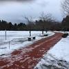 雪国のランナーの冬の練習その1(一つ森公園ジョギングコース)