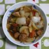 生活ー料理: 手と酢を加えた野菜炒め料理(酢豚)