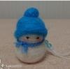 Snow ManのCDデビューを祝して羊毛フェルトの雪だるまを作りました!